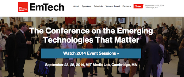 Emerging Technologies conference (EmTech 2014)